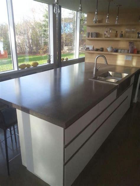comptoir de béton poli concrete countertops béton multi surfaces la cuisine