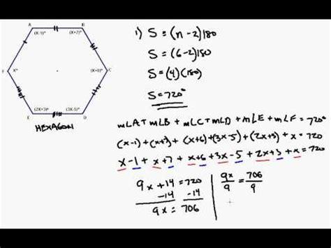 interior angle formula applied  irregular hexagon youtube