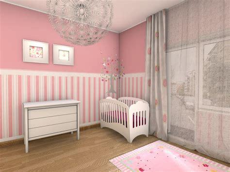deco chambre fille rose  blanc