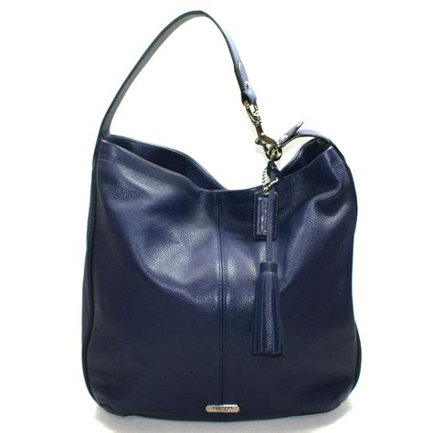 coach avery leather hobo bag indigo  coach