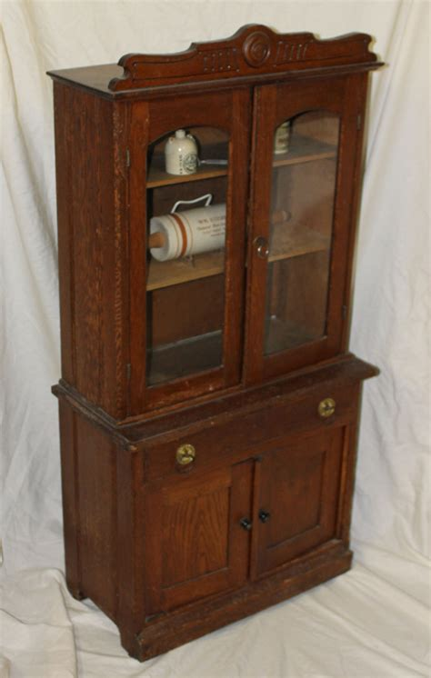 bargain johns antiques antique oak kitchen cupboard