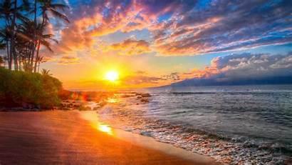 Beaches Sunsets Amazing Breathtaking Planet