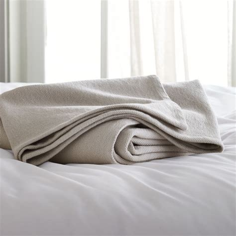 Siesta Grey Blanket | Crate and Barrel