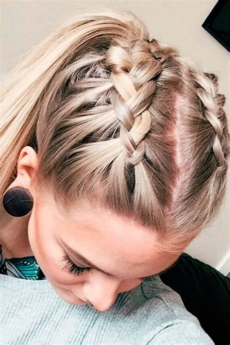 braid styles for hair best 25 half braided hairstyles ideas on