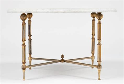 marble and brass side table french vintage marble top brass side table at 1stdibs