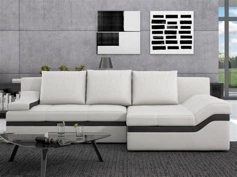 Canapé D'angle Convertible En Simili Azola