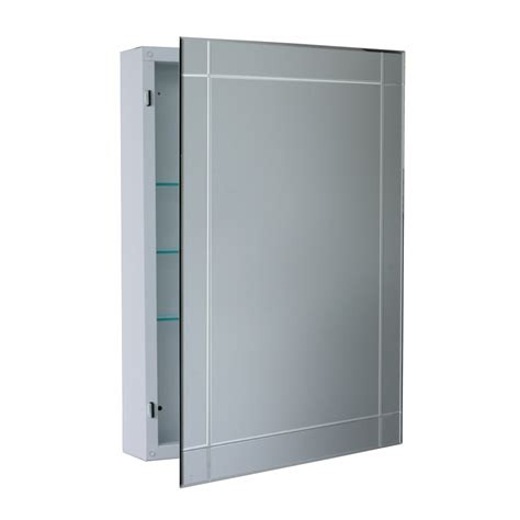 surface mount medicine cabinet lowes shop allen roth 22 25 in x 30 25 in frameless bevel