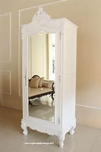 Kleiderschrank 1 Türig : barock kleiderschrank french amoire mit spiegel 1 t rig schr nke regale shop repro antik ~ Markanthonyermac.com Haus und Dekorationen