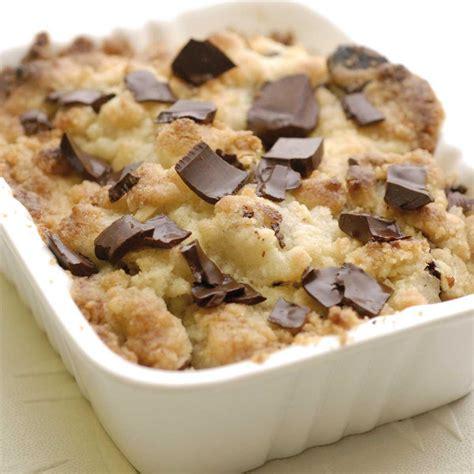 cuisine recette dessert crumble poire chocolat et noisettes une recette