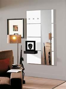 Porte Manteau Mural Blanc : porte manteau mural design laqu blanc brillant laly avec miroir patere design mirror et ~ Melissatoandfro.com Idées de Décoration