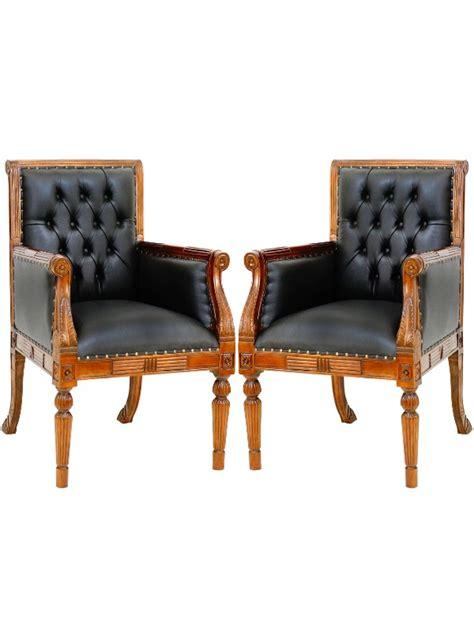 fauteuil de bureau anglais 2 fauteuils visiteur de bureau style anglais meuble de style