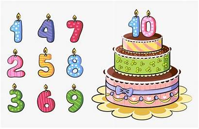 Cake Cartoon Birthday Cakes Candles Number Clipart