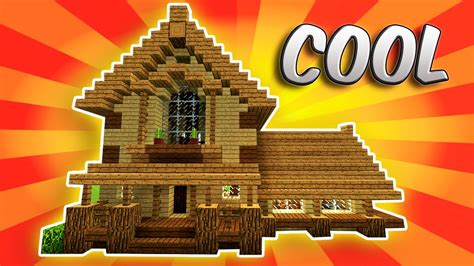 minecraft   build  survival house  survival house   hd tutorial youtube