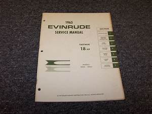 1965 Evinrude 18 Hp Fastwin Outboard Motor Shop Service