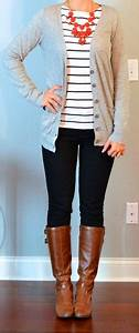 Cute Fall Outfits Leggings Cardigan And Boots - Fashion Trends For All