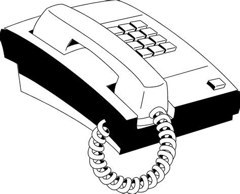 telephone clipart black and white telephone free stock photo illustration of a telephone
