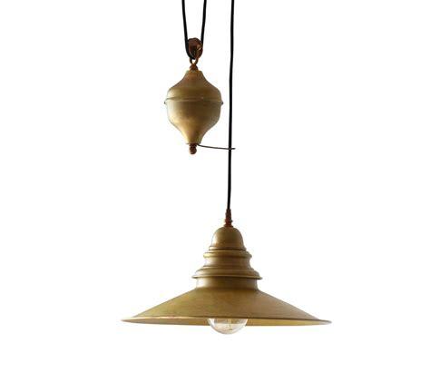 lighting pendant lights raw brass rise  fall light  french house