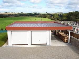 Garage En Bois Toit Plat : garage bois toit plat avec abris vehicule ~ Dailycaller-alerts.com Idées de Décoration