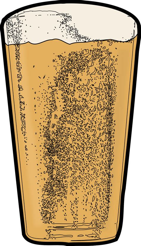 pint  beer vector clipart image  stock photo