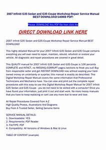 2007 Infiniti G35 Service Manual Pdf Dobraemerytura Org