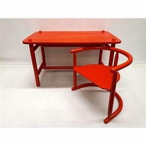 Table Et Chaise Scandinave : suite de table et chaise vintage rouge scandinave par ~ Melissatoandfro.com Idées de Décoration