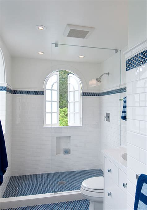 Blue Tile Bathroom Ideas White Subway Tile Bathroom Design Ideas