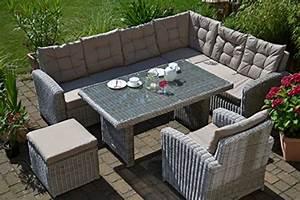 Tisch 8 Personen : ecklounge manhattan ecksofa links tisch sessel hocker gro es rattan gartensofa lounge ~ Markanthonyermac.com Haus und Dekorationen