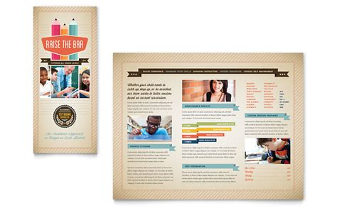 Publisher Templates Brochure by Tutoring School Brochure Template Word Publisher
