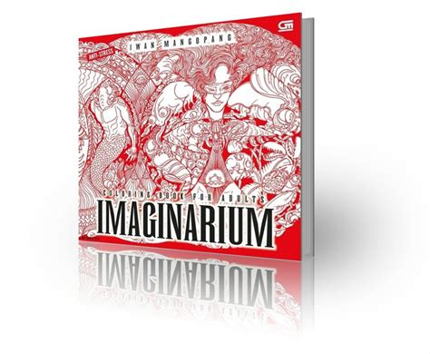 jual anti stress imaginarium coloring book  iwan