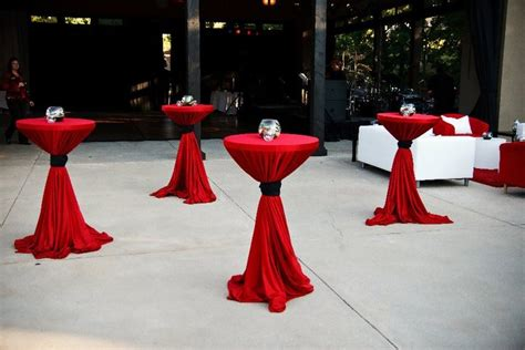 red and black table ls tied linens bistro tables red google search president