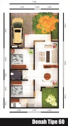 gambar contoh denah rumah minimalis type  minimalis