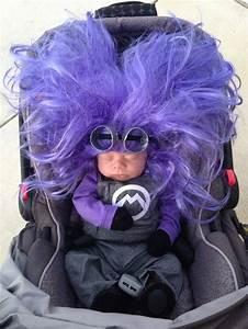 Evil purple minion costume DIY. Overalls, purple long ...
