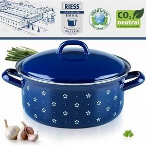 Emaille Topf Riess : riess emaille kasserolle mit deckel 20 cm 2 l topf ~ Whattoseeinmadrid.com Haus und Dekorationen