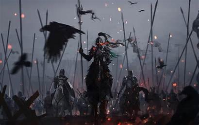 Fantasy Dark Warrior Battle Knights Knight Background