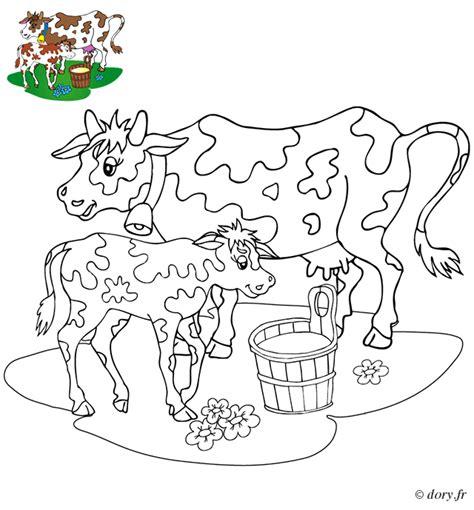 instruments de cuisine coloriage une vache et veau dory fr coloriages