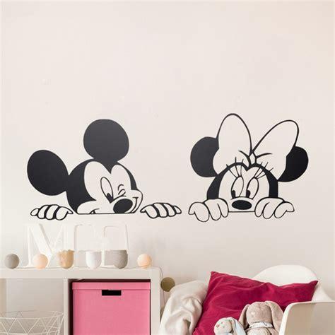 papier peint pour chambre bébé dessin animé de mickey minnie souris mignon vinyle