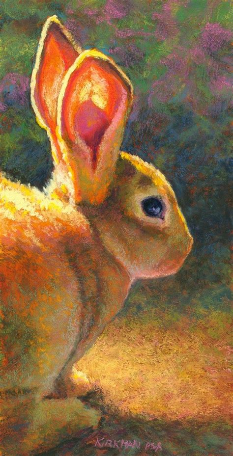 rita kirkmans daily paintings  good listener bunny