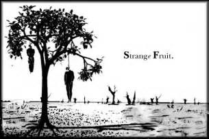 Strange Fruit Hanging Poplar Trees