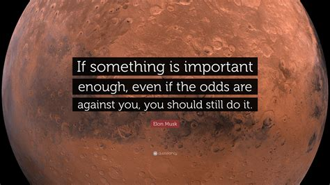 elon musk quote if something is important enough even