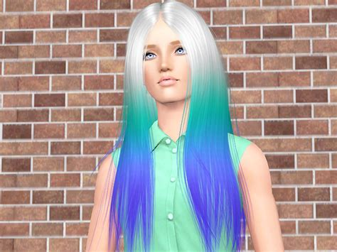 empire sims  cool sims hair  double tipped rainbow