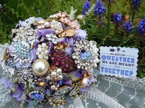 brooch bridal bouquet  tos diy