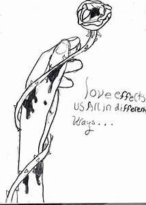 bleeding hand rose by jjay55 on deviantART