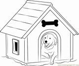 Dog Coloring Kennel Window Printable Coloringpages101 sketch template