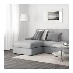 ikea 2er sofa kivik three seat sofa and chaise longue ramna light grey ikea