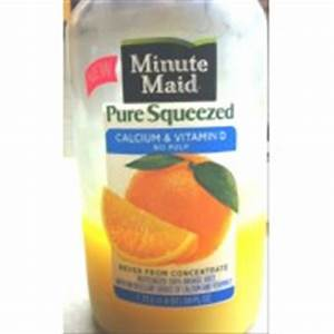 Minute Maid Orange Juice, Calcium & Vitamin D, No Pulp ...