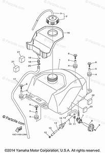 Yamaha Atv 2013 Oem Parts Diagram For Fuel Tank