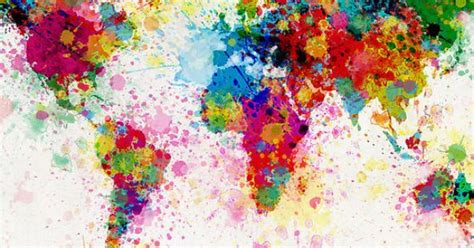 world map paint splashes art pinterest map painting