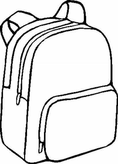 Backpack Coloring Pages Bag Bags Drawing Printable
