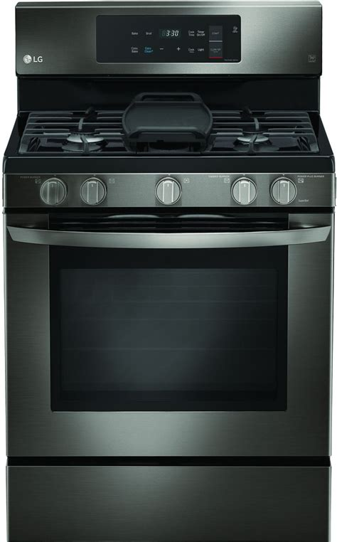 lg black stainless steel gas range lrgbd
