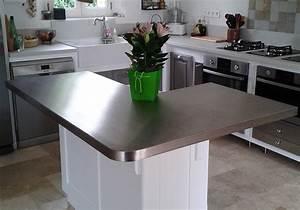 Plan Travail Inox Prix : cuisine plan de travail inox maison design ~ Edinachiropracticcenter.com Idées de Décoration